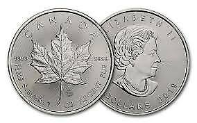Lot of 20 x 1 oz 2019 Canadian Maple Leaf .9999 Silver Coin