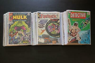 Huge Lot of 72 Silver and Bronze Age Comic Books, Marvel and DC Only