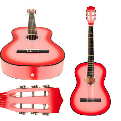 """New 38"""" Beginner Plywood Classical Acoustic 6 Strings Guitar Pink"""