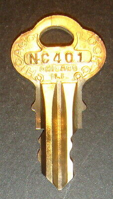 Original Northwestern NC401 Vending Key for Lock & Barrel Lock Peanut Gum ball