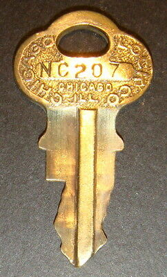 Original Northwestern NC207 Vending Key for Lock & Barrel Lock Peanut Gum ball