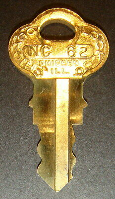 Original Northwestern NC62 Vending Key for Lock & Barrel Lock Peanut Gum ball
