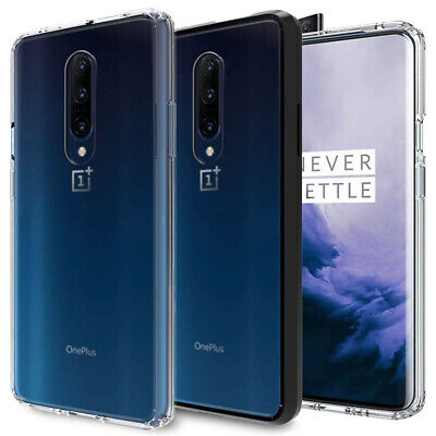 For OnePlus 7 Pro Case Slim Clear Hard Back Shockproof Bumper Protective Cover