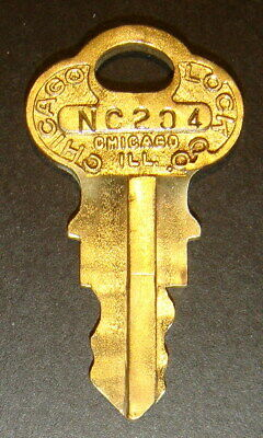 Original Northwestern NC204 Vending Key for Lock & Barrel Lock Peanut Gum ball