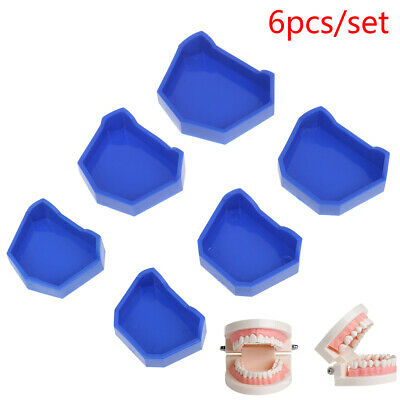 6pcs/3Sets S/M/L Dental Lab Model Base Former Molds Tray Loading with Notches .