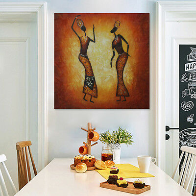 Framed Abstract Oil Painting Canvas Hand Painted Wall Art Home Decor Dancers