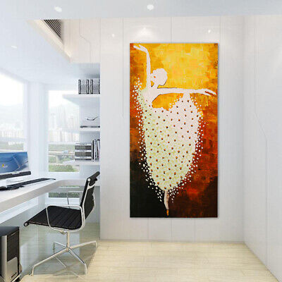 Hand Painted Modern Abstract Art Oil Painting On Canvas - Ballet Dancer Framed
