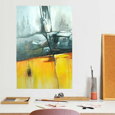 Abstract Metope Hand Painted Art Canvas Oil Painting Modern Home Decor (Framed)