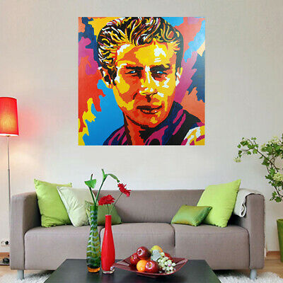 100% Hand Painted Abstract Art Canvas Oil Painting Home Decor Framed - Elvis