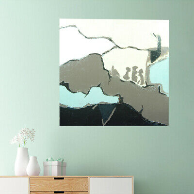Abstract Hand Painted Art Canvas Oil Painting Modern Home Decor Framed - Sea