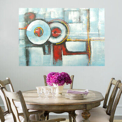 Pure Hand Painted Abstract Art Oil Painting On Canvas Modern Wall Decor Framed