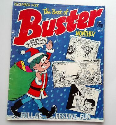 The Best of Buster Monthly December 1988 Collectable Childrens Kids Comic *