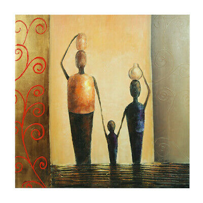 *Happy Family* Hand-painted Oil Painting Canvas Wall Art Home Decor Framed
