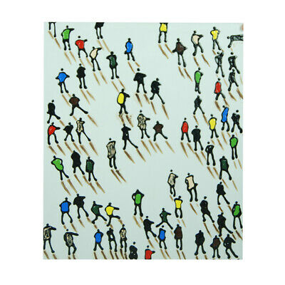 Pure Hand-Painted Oil Painting - Skating| Abstract Wall Art Home Decor Framed