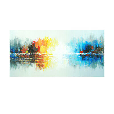 Hand Painted Art Canvas Oil Painting Home Decor Framed Reflection Landscape