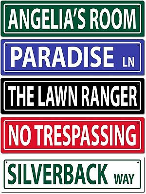 Personalized Custom Text Street Sign 6x24 Aluminum Metal Traditional Design