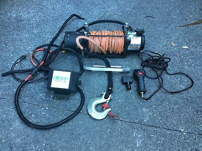 4WD Electric Rope Winch Wireless Wired Remote Kings 12000lb Domin8rX Steel 4X4
