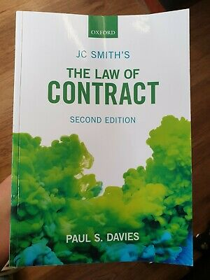 JC Smith's The Law of Contract by Paul S. Davies excellent condition