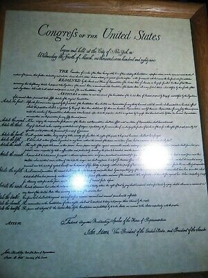 """Print Copy Vintage Declaration, Bill of Rights Constitution rights 14"""" x 11"""""""