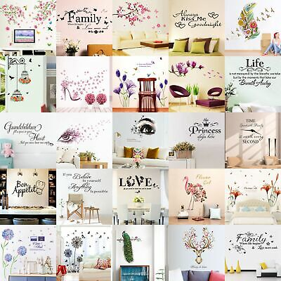 Quote Wall Stickers Vinyl Art Home Room DIY Decal Home Decor Removable Mural DVG