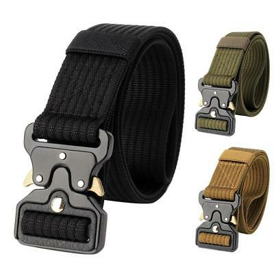 Mens Military Belt Buckle Adjustable Combat Canvas Waistband Tactical Army Belts