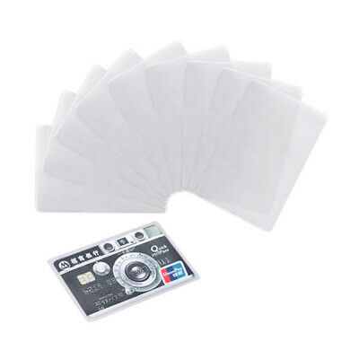 20pcs Transparent Plastic Vertical ID Credit Card Holder Protector Sleeve