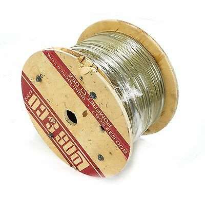 "Loos&Co TF12519MD 1/8"" 1x19 358' Zinc Aircraft Flexible Swaging Cable Wire rope"