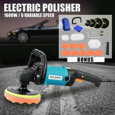 Polisher Car Buffer 180mm 150mm Sander Electric Tools kit 6 Speed 1600W 240V AU