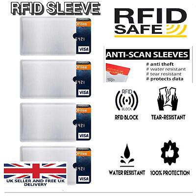 RFID Card Sleeve Wallet Blocking Protector Debit Credit Contactless Wholesale UK