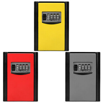 4 Digit Combination Password High Safe Factors Key Storage Box Wall Mounted Tool