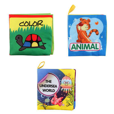 For Kids Baby Intelligence development Cloth Bed Cognize Book Educational  INF