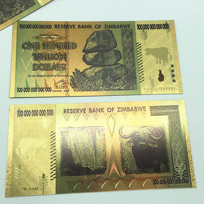 2x100 Trillion Zimbabwean Dollar Commemorative Banknote Non-currency Collection