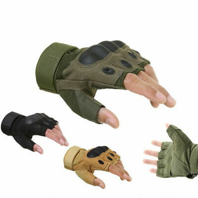 Half Finger Gloves Paintball Tactical Fingerless Motorcycle Cycling Shooting Men