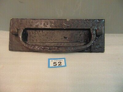 Large Vintage Wrought Iron Letter Box With Knocker Clapper 52