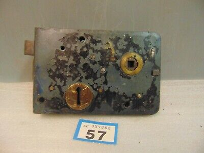 Antique  Brass And Steel Rim Door Lock  57