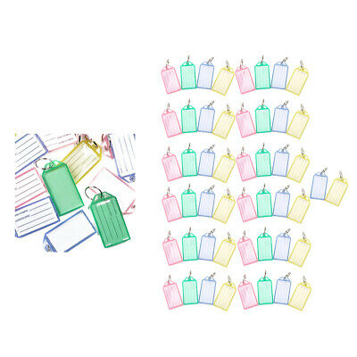 40pcs Hard Plastic Coded ID Key Tags with Split Ring Holder Label Assorted Color