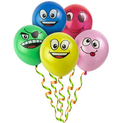 10pcs/Lot Latex Balloons Printed Big Eyes Smiley Happy Birthday Party Decor Cute