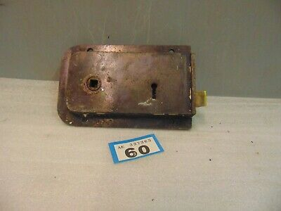 Antique  Brass And Steel Rim Door Lock  60