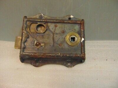 Antique  Brass And Steel Rim Door Lock  61