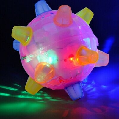 Pet Dog Cats Flashing Ball Toy For Games LED Pet Play Chew Toys Jumping Joggle