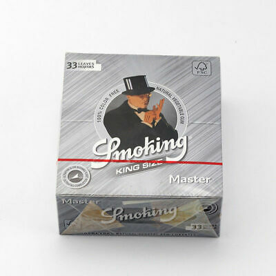 5 Booklets King Size Smoking Master Tobacco Herbal Herb Cigarette Rolling Paper