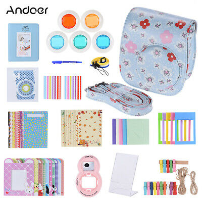 Andoer 14 in 1 Accessories Kit for Fujifilm Instax Mini 8/8+/8s/9 w/ Camera J8L8