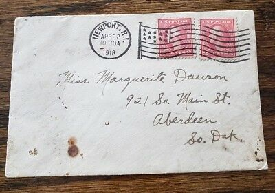 WW1 Postal Cover Homefront Soldier Mail 1918