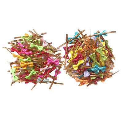 100Piece Metallic Twist Bow Ties for Candy Lollipop Cake Pop Cello Bag Party