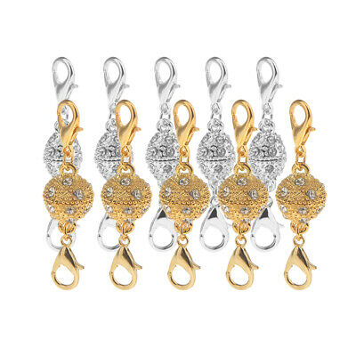 10set Magnetic Clasps For Jewelry Necklace Bracelet Lobster Clasp Rhinestone