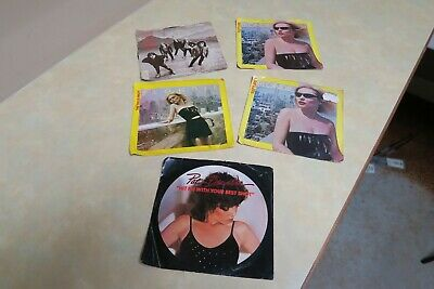 """Lot of 5, BLONDIE, PAT BENATAR, JOURNEY, Picture Sleeve 7"""" 45 rpm records, Nice"""