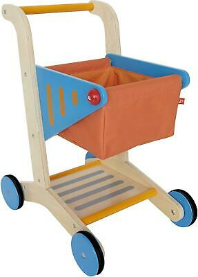 Hape Wooden Childrens Shopping Trolley Cart