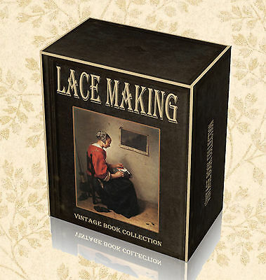 Antique Lace Making Rare Books on DVD - Designs Patterns Bobbin Irish Crochet F0