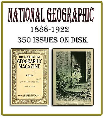 Vintage National Geographic Magazines 1888-1922 on DVD - 350 Issues Geography 70