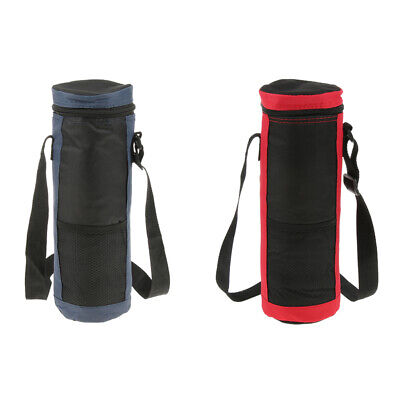 2 Packs Cylinder Cooler Bag Insulated Water Drinks Bottles/Cans Carrying Bag